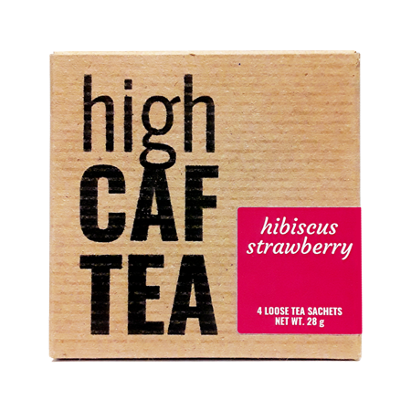 Hibiscus Strawberry High Caffeine Tea